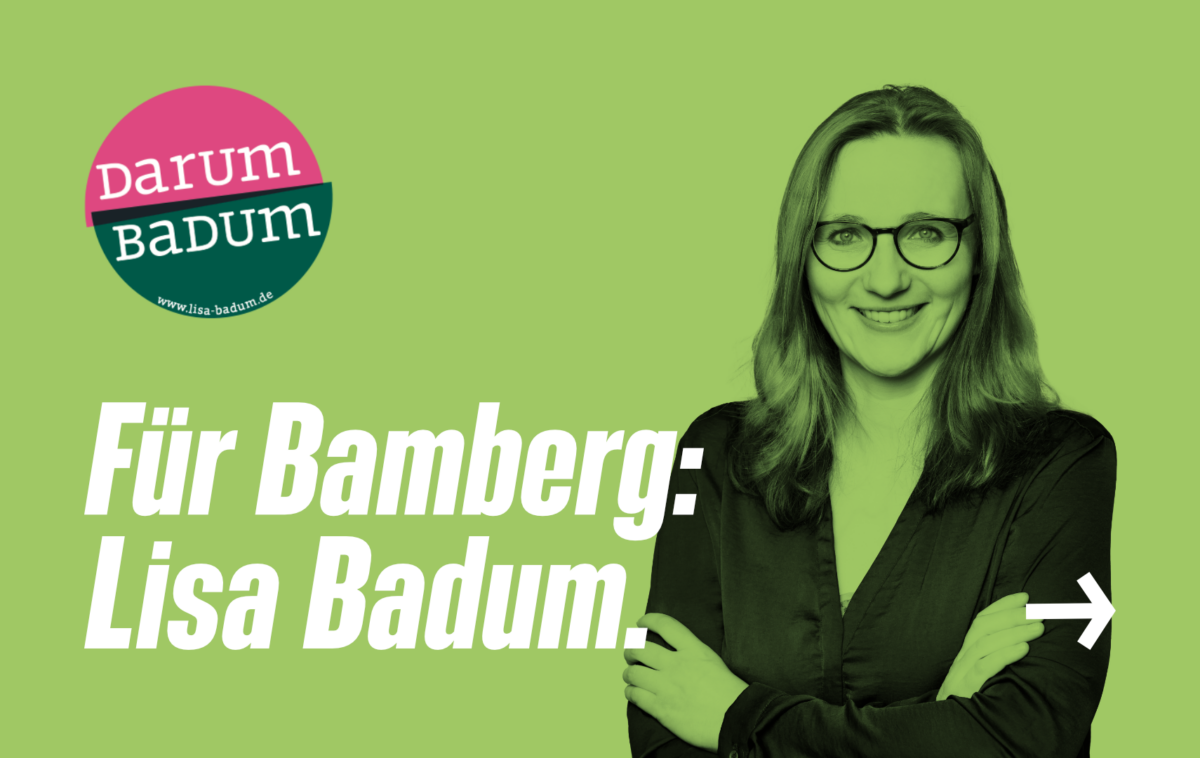 Link: Für Bamberg: Lisa Badum.